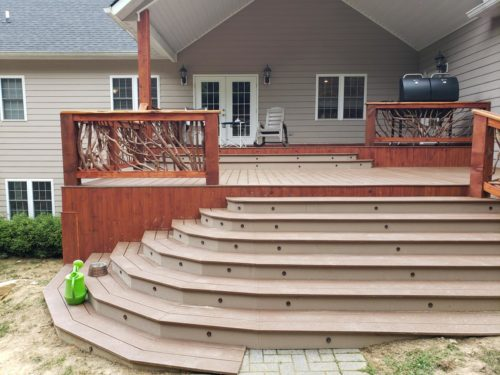 Welcoming Front Porch Steps Wraparound