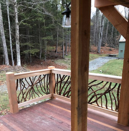 White Project Deck Railing
