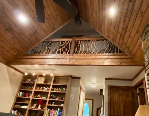Wood Paneling Loft Railing
