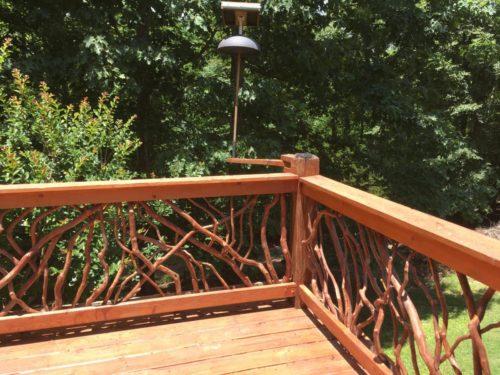 Corner Of Railings On Deck