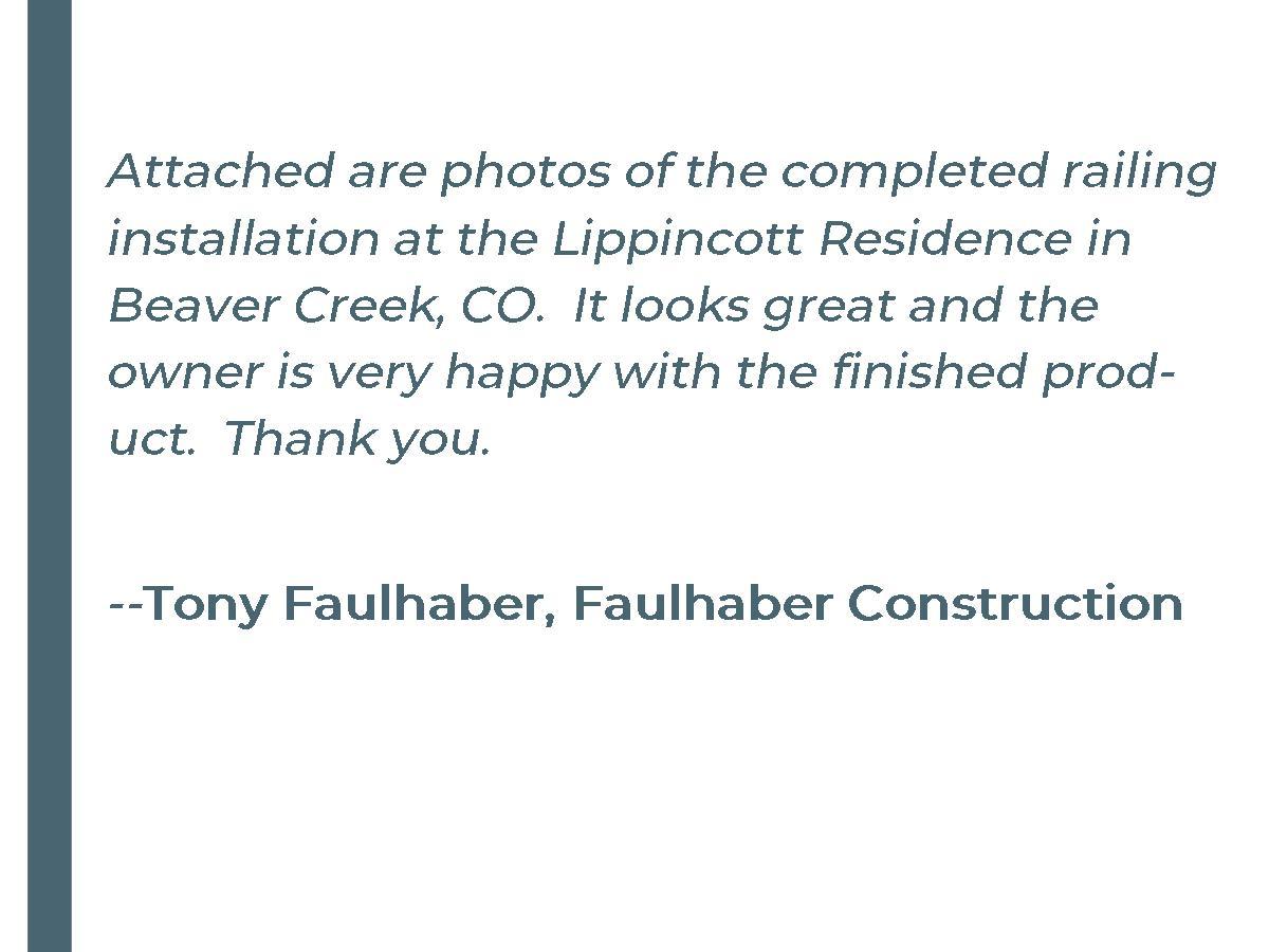 Faulhaber Testimonial