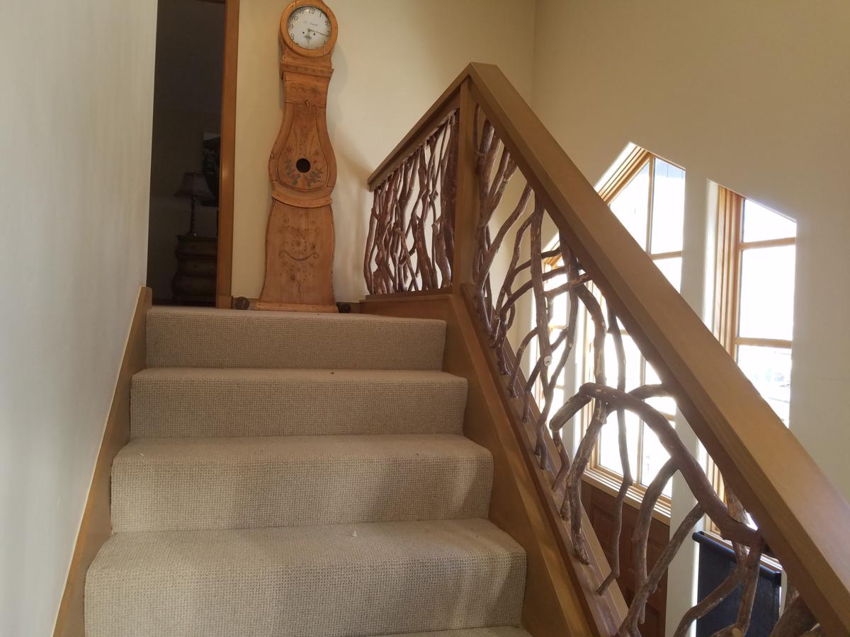 Grandfather Clock With Stairs Railings