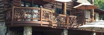 Curved Wooden Railings