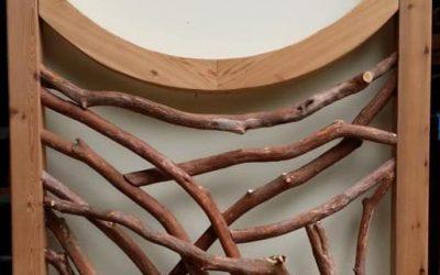 Laurel Branch and Curved Cedar Beam