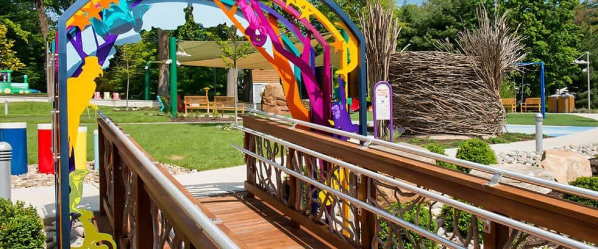Custom outdoor handrails