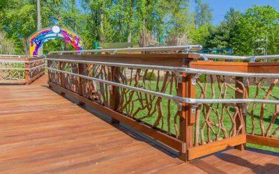 mountain laurel handrail installed at nih